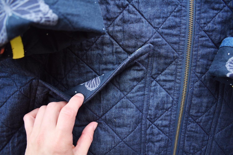 pocket lining details