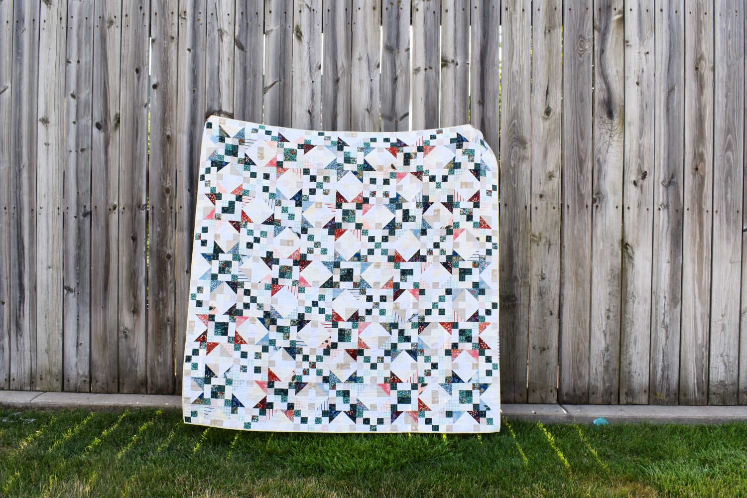 A super scrappy Starlite quilt with Rifle Paper Co fabric