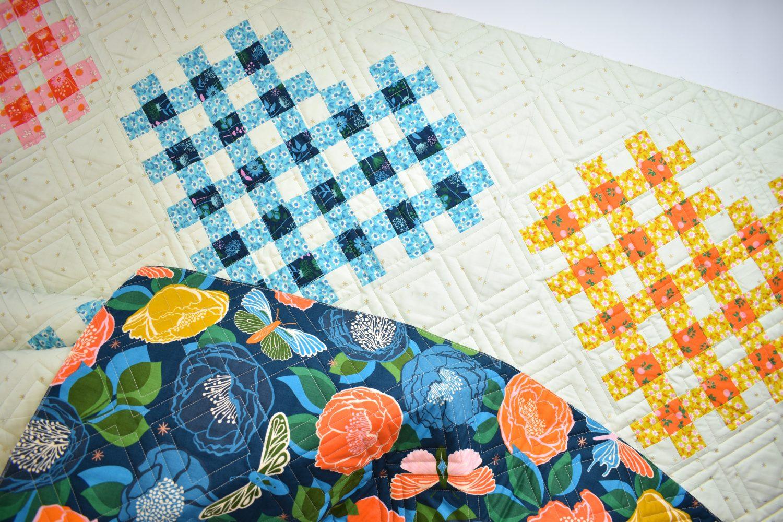 Woven Hearts modern quilt