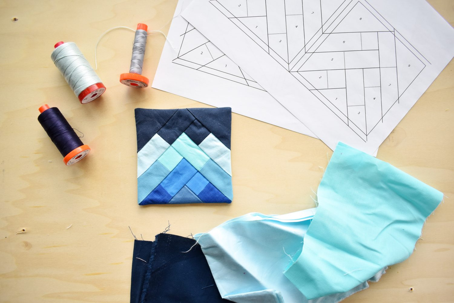 Misty Mountains quilt inspired coaster