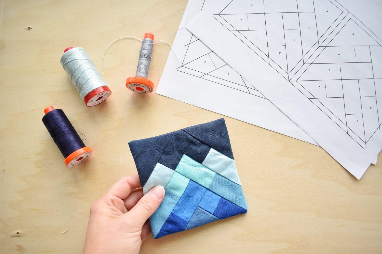 Foundation Paper Pieced Coaster