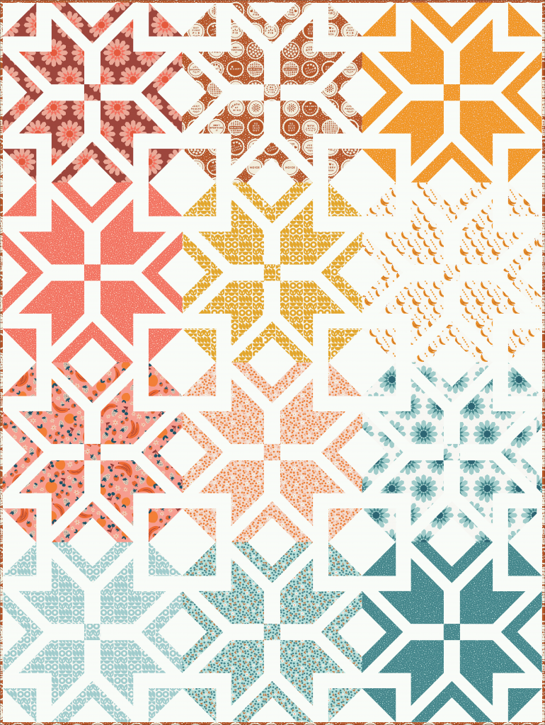 lap size Nordic Star quilt in More Pie Please! fabric collection