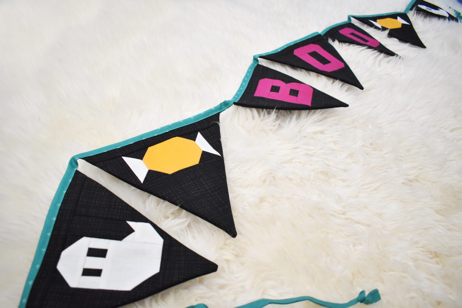 quilted halloween bunting