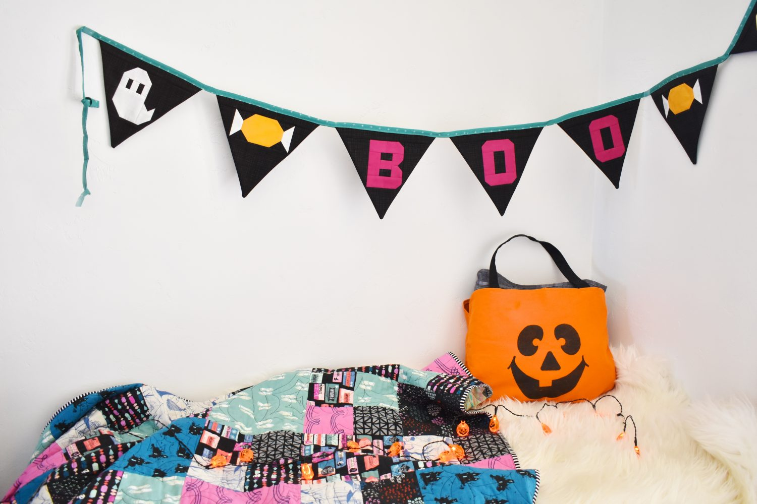 Boo Bunting, the first in a series of Holiday Quilted Buntings