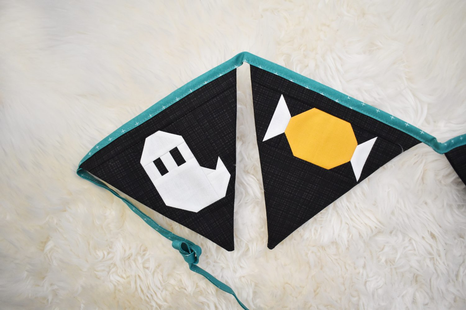ghost and candy bunting pennants