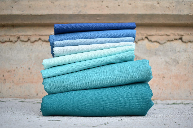 blue ombre fabrics