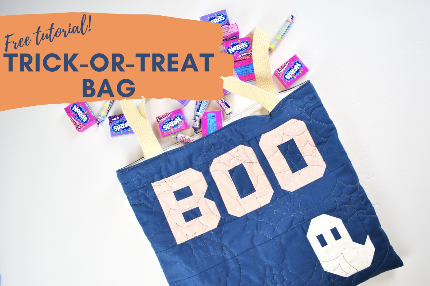 Quilted Trick or Treat Bag Tutorial